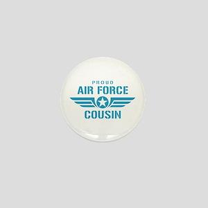 Proud Air Force Cousin W Mini Button