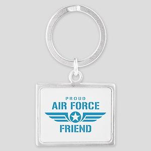 Proud Air Force Friend W Landscape Keychain