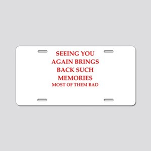memories Aluminum License Plate