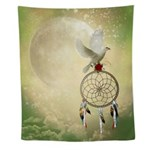 Dove Dreamcatcher Wall Tapestry