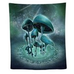 Mystic Mushrooms Wall Tapestry