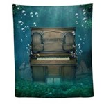 Submerged Piano Wall Tapestry