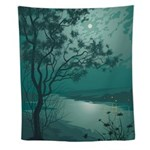 Moonlight Landscape Wall Tapestry