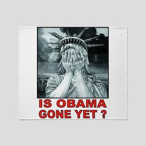 OBAMA STATUE Throw Blanket