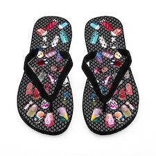 Painted Nails Flip Flops