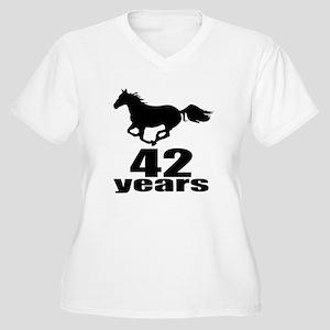 42 Years Birthday Women's Plus Size V-Neck T-Shirt