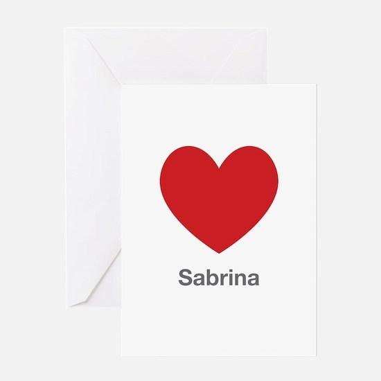 Sabrina Big Heart Greeting Card