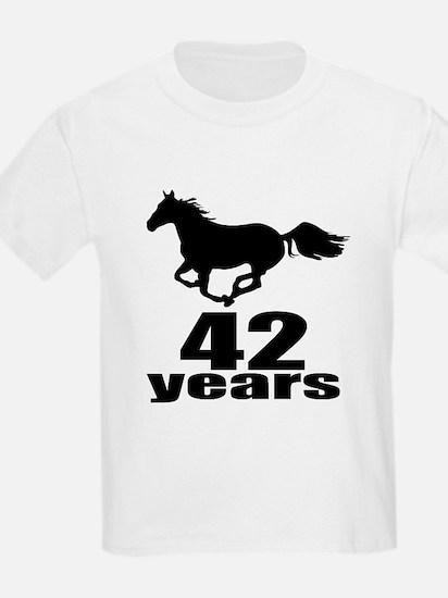 42 Years Birthday Designs T-Shirt