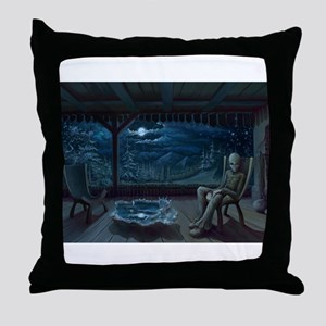 Alien on Earth Throw Pillow