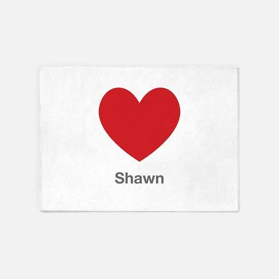 Shawn Big Heart 5'x7'Area Rug