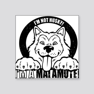 """I'm Not Husky! I'm a Malamute"" Sticker"