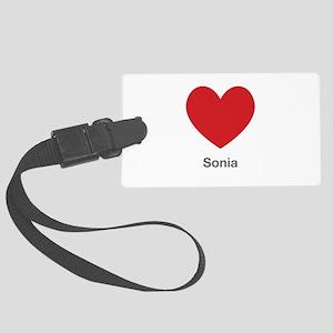 Sonia Big Heart Luggage Tag