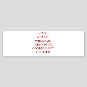 baker Bumper Sticker