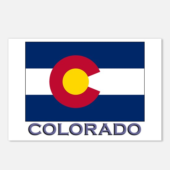 Colorado Flag Gear Postcards (Package of 8)