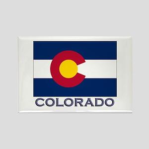 Colorado Flag Gear Rectangle Magnet
