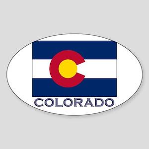 Colorado Flag Gear Oval Sticker