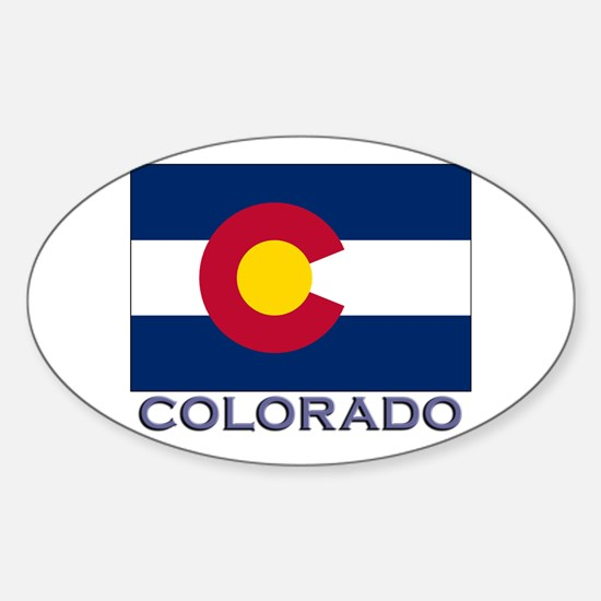 Colorado Flag Gear Oval Decal