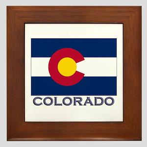 Colorado Flag Gear Framed Tile