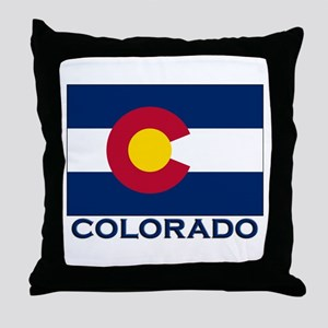 Colorado Flag Merchandise Throw Pillow
