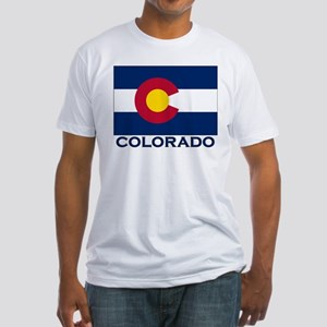 Colorado Flag Merchandise Fitted T-Shirt