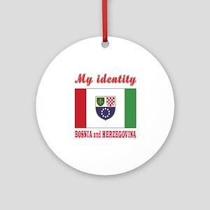 My Identity Bosnia and Herzegovina Ornament (Round