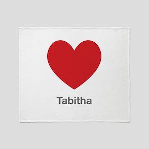 Tabitha Big Heart Throw Blanket