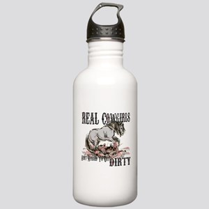 Real Cowgirls Aint Afraid of Dirt Water Bottle