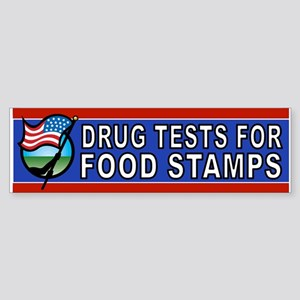 DRUGS FOOD STAMPS Bumper Sticker