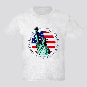 Kids Statue of Liberty Flag Shirt