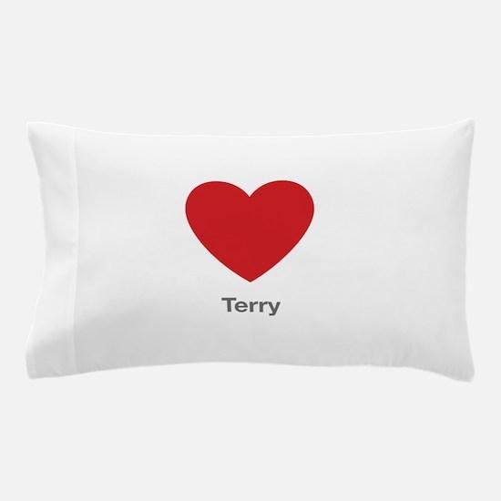 Terry Big Heart Pillow Case