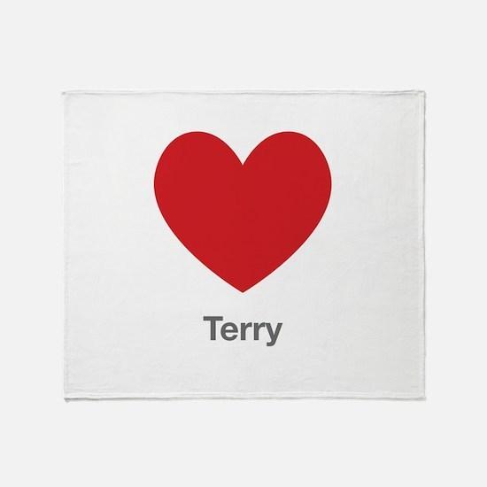 Terry Big Heart Throw Blanket