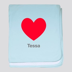Tessa Big Heart baby blanket