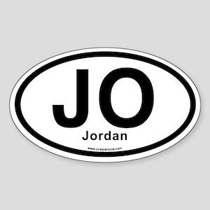 JO - Jordan Sticker (Oval)