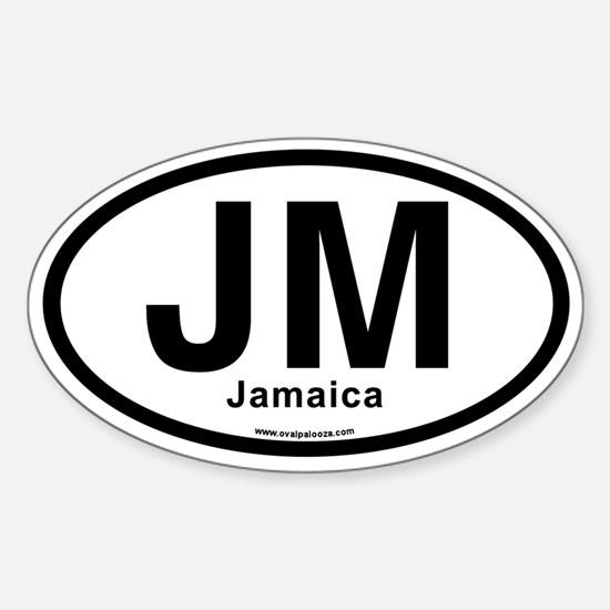 JM - Jamaica Sticker (Oval)