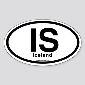 IS - Iceland Sticker (Oval)