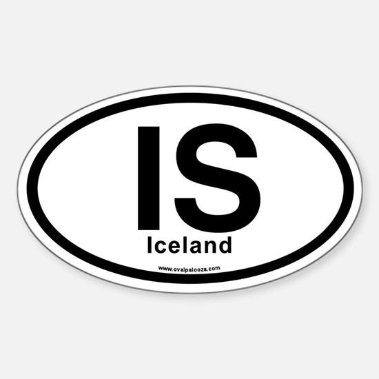 IS - Iceland Sticker (Oval)