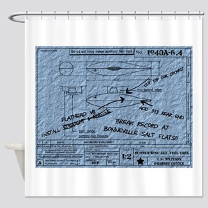 Recipe for Excitement-4-BLUEPRINT Shower Curtain