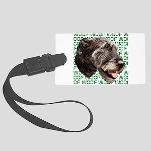 irish wolfhound Large Luggage Tag