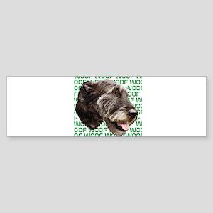 irish wolfhound Sticker (Bumper)