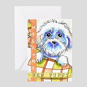 Bichon Frise Congratulations Puppy Greeting Card