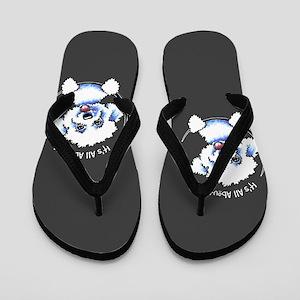 Bichon Frise IAAM Flip Flops