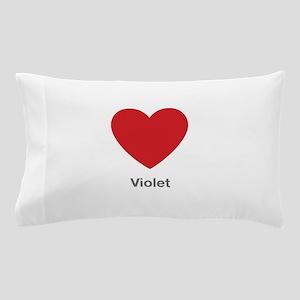Violet Big Heart Pillow Case