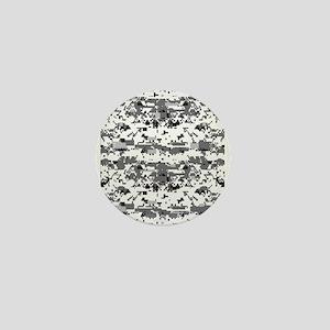 Digital Camouflage Grey Mini Button