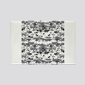 Digital Camouflage Grey Rectangle Magnet