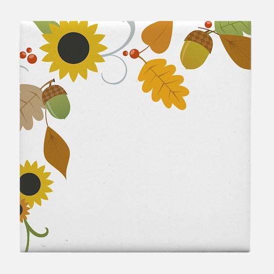 Thanksgiving Border Tile Coaster
