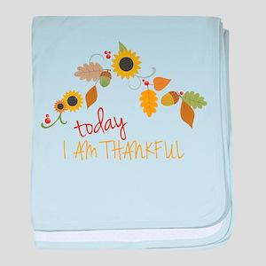I Am Thankful baby blanket
