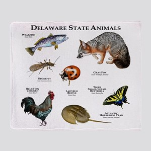 Delaware State Animals Throw Blanket