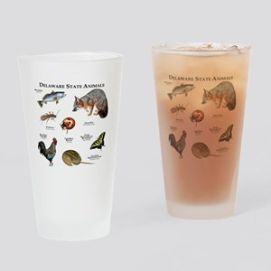 Delaware State Animals Drinking Glass