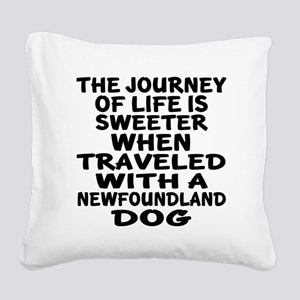 Traveled With Newfoundland Do Square Canvas Pillow