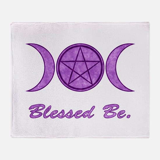 Blessed Be (Purple) Throw Blanket